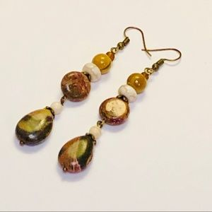 Multiple Jaspers & Howlite Gemstone Earrings